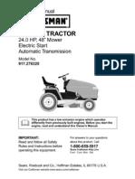 "Craftsman Garden Tractor 24.0 HP,48"" Mower"