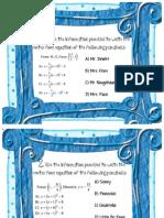 Equations of Parabolas Mad Lib