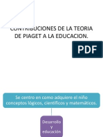 Contribuciones de La Teoria de Piaget a La
