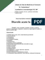 recomandări metodice diareea acută