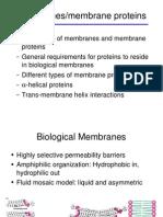 Membranes & Membane Proteins