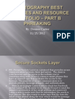 Cryptography Best Practices and Resource Portfolio Part B