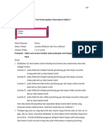 Soal Test Formatif Ira