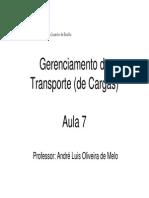 Aula 7 - Gerenciamento de Transporte de Cargas
