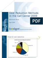 Cost Reduction Methods in the Call Center