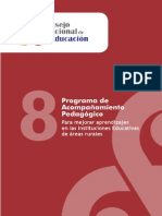 Programa de acompañamiento pedagógico para mejorar aprendizajes en las Instituciones Educativas Rurales