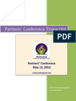 2013 Partners Confererence Transcript