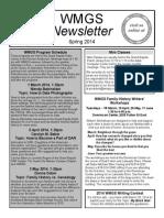 2014 Spring WMGS Newsletter
