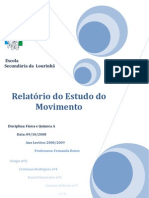 Relatorio de Quimica1 - Estudo Do Movimento