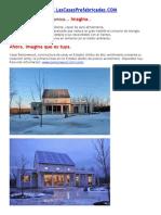 Casa prefabricada economica y autosuficiente