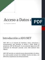 Acceso a Datos en C#