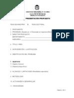 Formato de Propuesta de Tesis