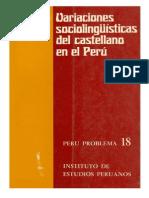 Variaciones sociolingüísticas del castellano en el Perú