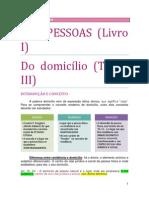 03. DAS PESSOAS - Do domicílio