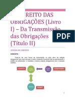 10. DO DIREITO DAS OBRIGAÇÕES - Da transmissão das obrigações
