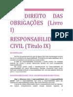12. DO DIREITO DAS OBRIGAÇÕES - Responsabilidade Civil