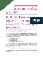18. DO DIREITO DE FAMÍLIA - Do regime de bens