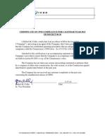 2014 CPNI Compliance Certificate ENAS Final