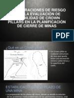 CONSIDERACIONES DE RIESGO PARA LA EVALUACIÓN DE ESTABILIDAD