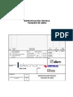 819001 IDO 0 VQ_ 255 ESP 001 a Especificacion Tecnica Tanques de Obra