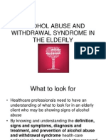 Alcohol Abuse and Withdrawal Syndrome in the Elderly Presentation