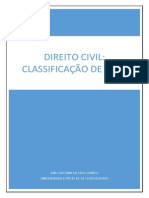 Direito Civil - Classificação dos bens