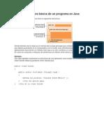 Estructura básica de un programa en Java