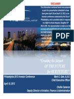 Philadelphia Investors Conference