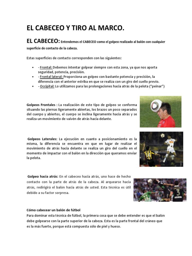 El Cabeceo y Tiro Al Marco (1)