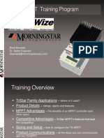 Sunwize MorningstarTriStarMPPT Training