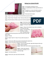 making your quilted pillow