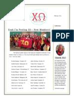 Upsilon Lambda - Newsletter February 2014
