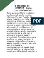 Rudolf Steiner - I 5 Esercizi