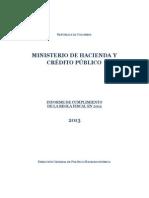 Informe Cumplimiento Regla Fiscal