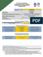 CALENDARIO EDUCACIÓN A DISTANCIA 2014-2 derecho