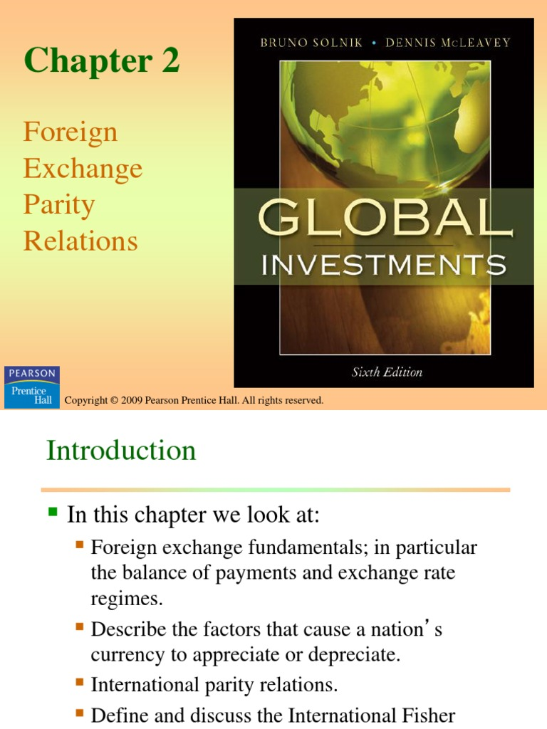 Global Investments PPT Presentation | Capital Account | Exchange Rate