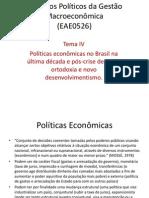 Aspectos Políticos da Gestão Macroeconômica trabalho
