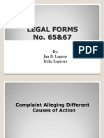Legal Forms Report