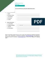 Nomination Form for IPSF Pharmacy Education Ambassador