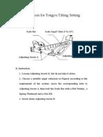 Setting Illustration for Tongyu Downtilt Kit