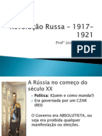 Revolução Russa – 1917-1921