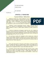 Texto - O Prazer Da Leitura - Rubem Alves