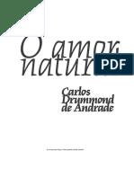 Carlos Drummond de Andrade - O Amor Natural