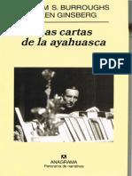WilliamBurroughs AllenGinsberg Las Cartas de La Ayahuasca Ananagrama 1953