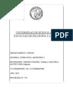 Literatura Argentina I A