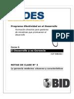 BID - El Desarrollo y Su Gerencia Act 3