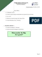 INF. Nº2. DETERMINACIÓN DE LA MASA MOLAR DEL MAGNESIO