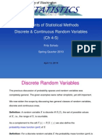 Elements of Statistical Methods Discrete and Continuous Random Variables by Fritz Scholz