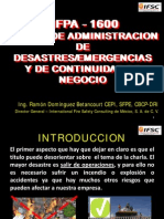8 Norma NFPA Para La Continuidad de Negocio
