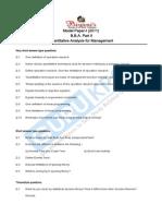 Quantitative Management for Analysis